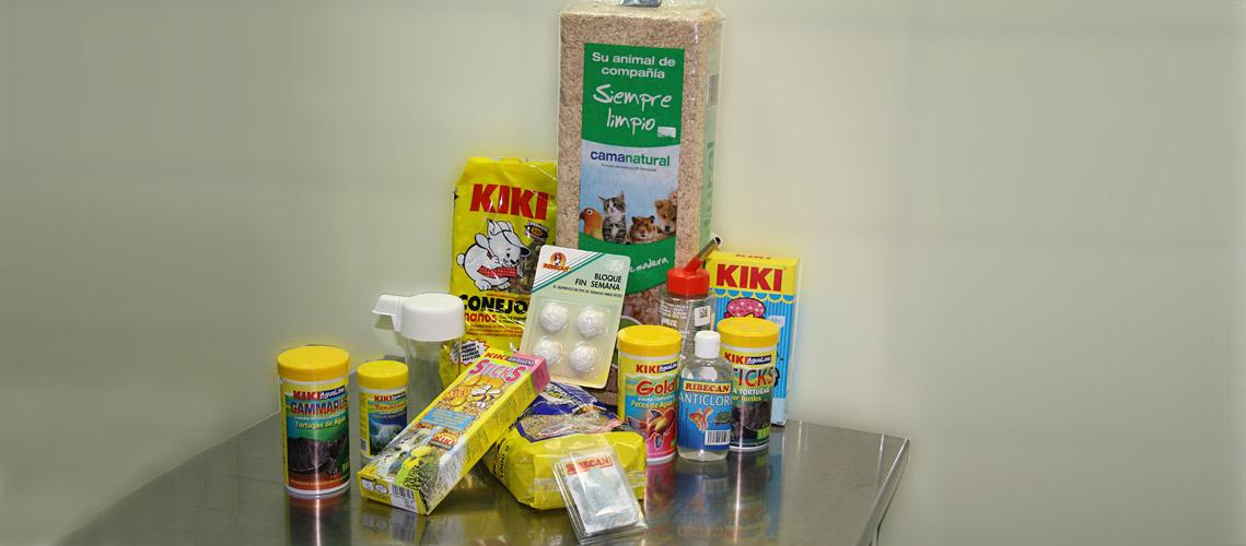 productos de alimentación y cuidados para aves y peces