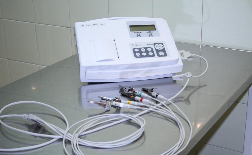 equipo de electrocardiografia de Clínica Veterinaria Villava