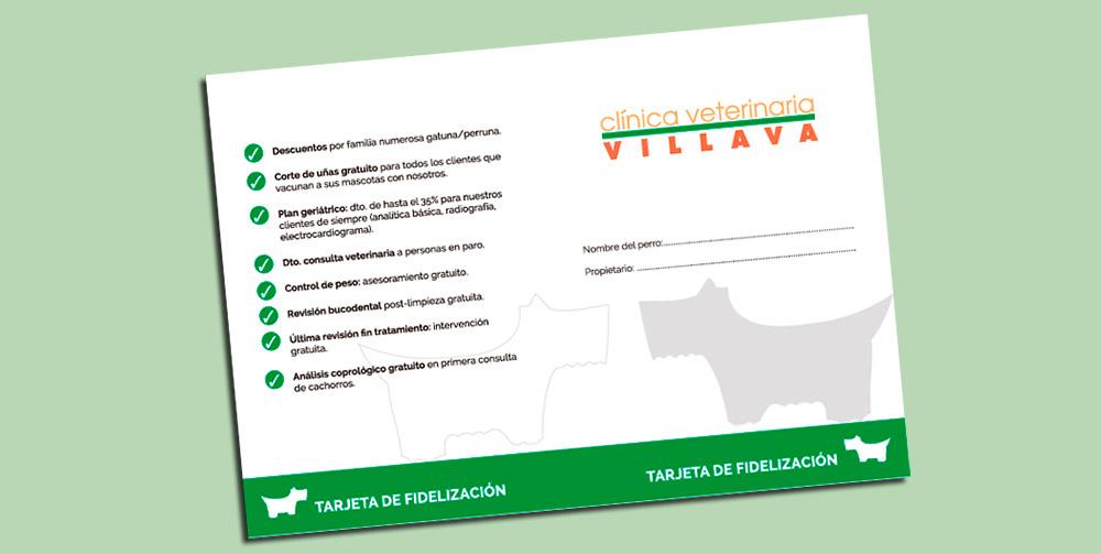 Tarjeta de fidelización de Clínica Veterinaria Villava