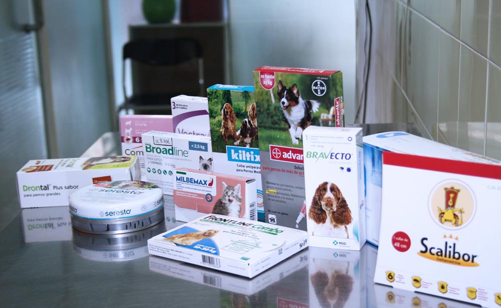productos de desparasitación disponibles en la tienda de Clínica Veterinaria Villava